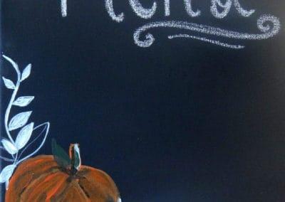 Chalk Pumpkins