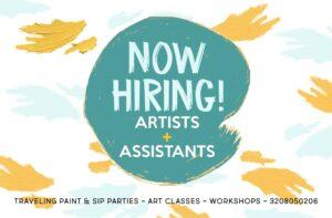 Hiring artists, art, craft