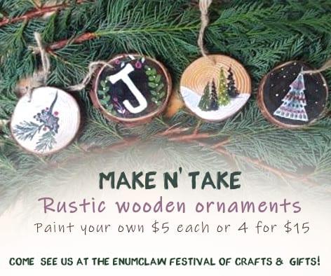 DIY Rustic Ornament Make n' Take Booth