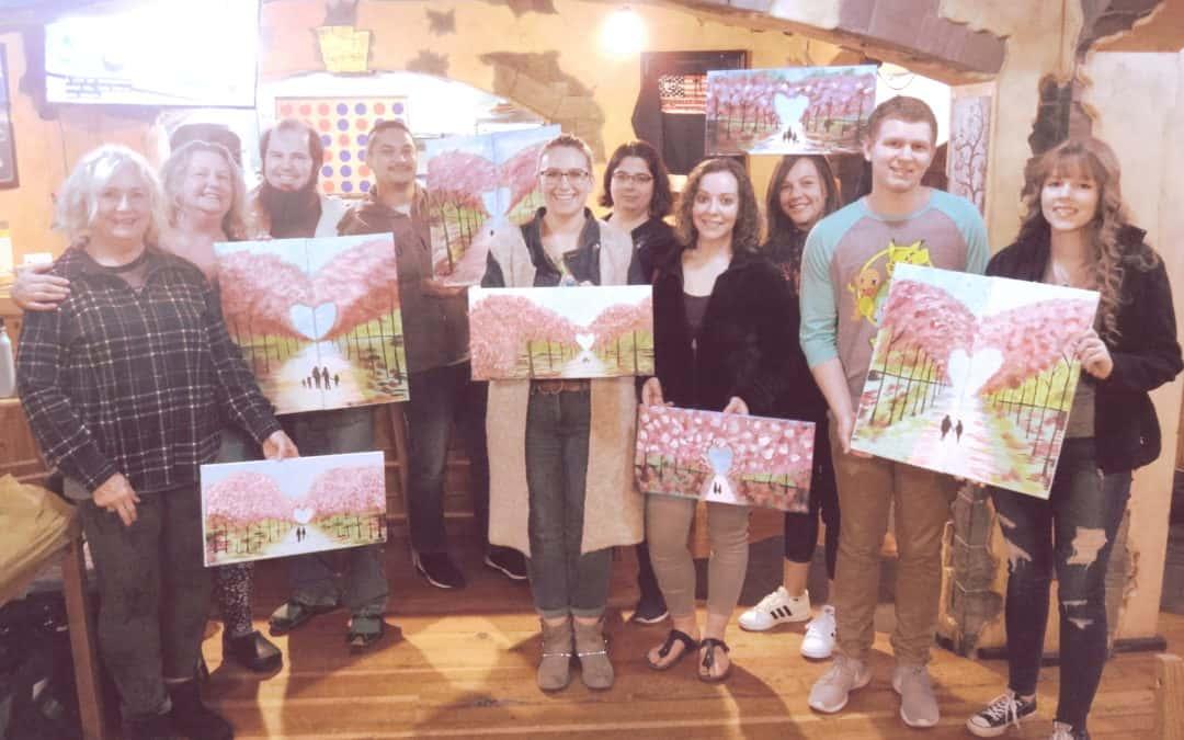 Couples paint night success