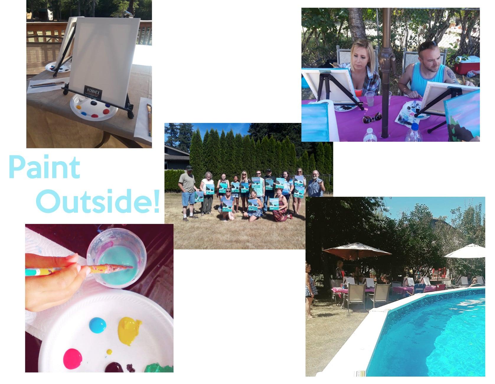 paint and sip pool party konnex art studio