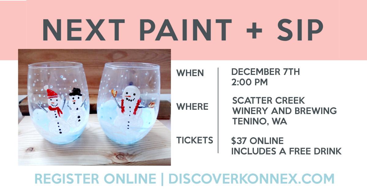 WINE GLASS paint night, sip and paint near tenino