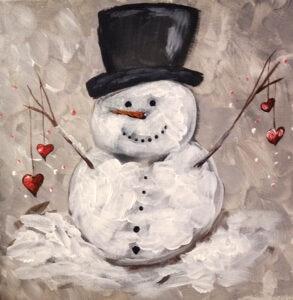 Snowman Hearts